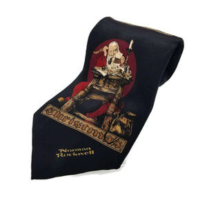 Norman Rockwell Christmas Santa Claus Neck Tie
